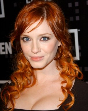 Christina-Hendricks-red-head-hairstyle