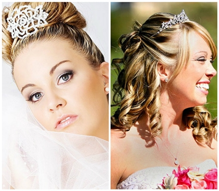 Wedding hairstyles with tiara-2