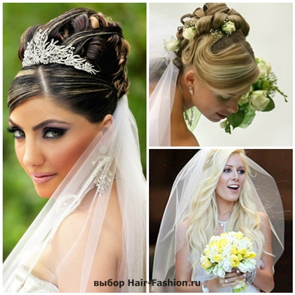 wedding hairstyles with a veil-2